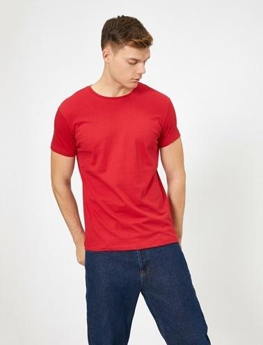 Koton Bisiklet Yaka T-Shirt Kırmızı